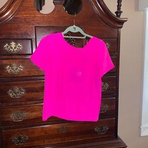 Amanda Uprichard short sleeve top pink S